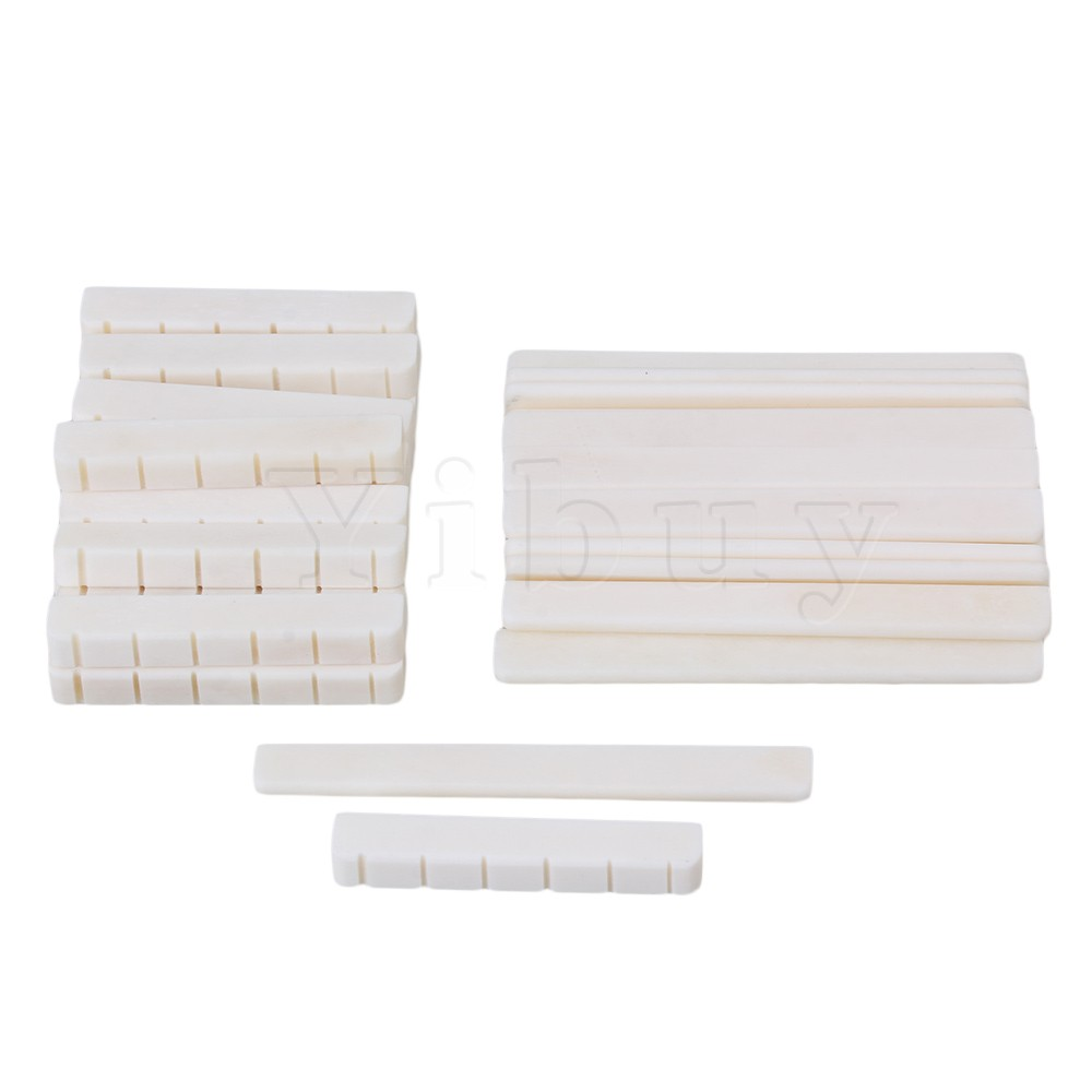 цены Yibuy 50 x Oxen Bone 52x6x9mm Nut 80x3x9mm Saddle for 6-String Classical Guitar