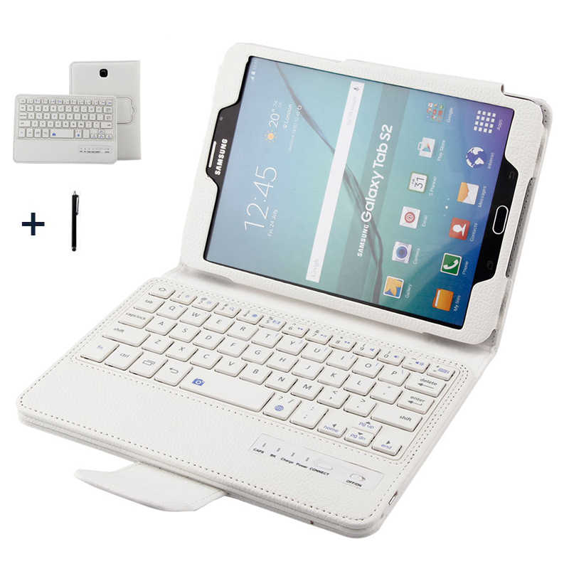 Keyboard For Samsung Galaxy Tab S2 8.0 Wireless Bluetooth Keyboard Case For Galaxy Tab S2 8'' T710 Tablet Flip Leather Cover+Pen