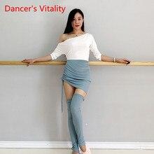 ملابس رقص البطن ممارسة 2019 جديد الخريف والشتاء المبتدئين تنورة الجوارب المهنية ممارسة دعوى للفتيات S ، M ، L