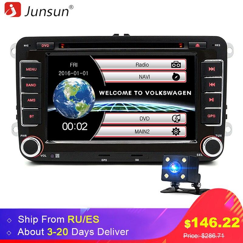 Junsun 7 2 din font b Car b font DVD font b GPS b font radio