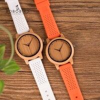 BOBO ptak kobiety zegarki reloj mujer zestaw bambusa panie zegarki silikonowy pasek japonia ruch Wrist Watch prezenty