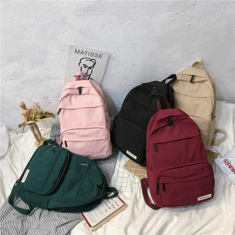 DCIMOR Su Geçirmez naylon Kadın Sırt Çantası Kadın Büyük kapasiteli öğrenci okul çantası Çok cep seyahat sırt çantası Genç kitap Mochila