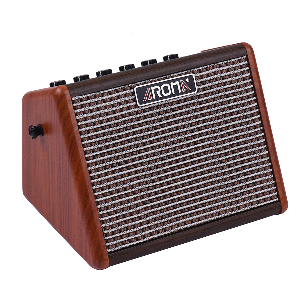 AROMA AG 15A 15W Portable Acoustic Guitar Amplifier Amp BT Speaker Built in Rechargeable Battery with
