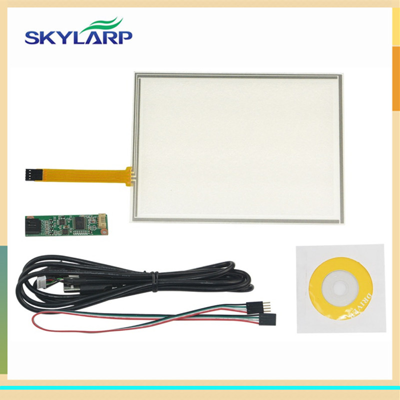 skylarpu New 8 inch 4 Wire Resistive Touch Screen Panel USB Controller Kit For EJ080NA-05B touch panel Glass new 10 1 inch 4 wire resistive touch screen panel for 10inch b101aw03 235 143mm screen touch panel glass free shipping