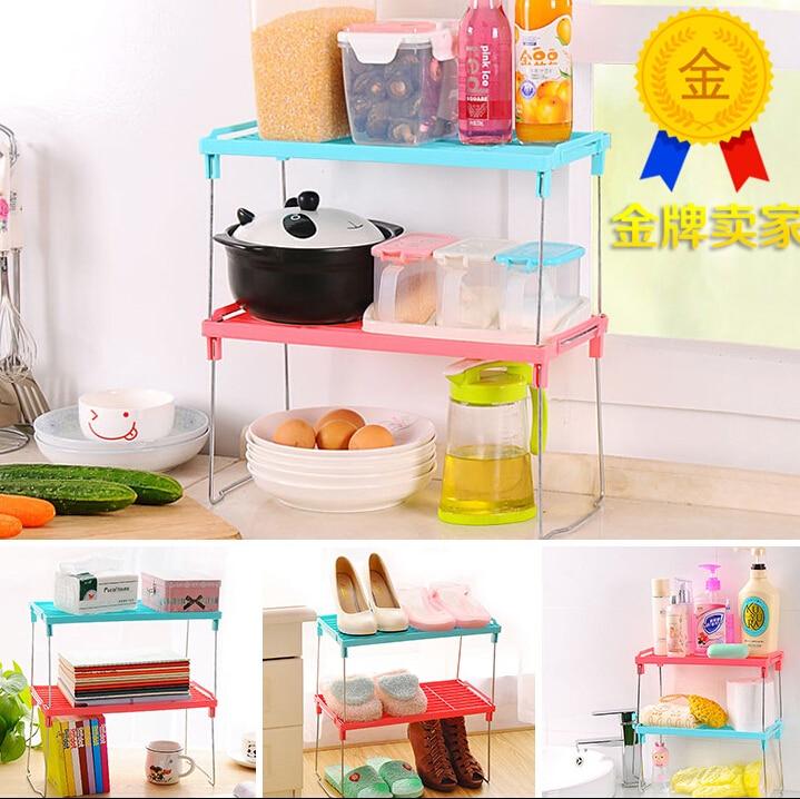 2pcs Set 30 14 16 5cm Kitchen Organizer Bathroom Organizer Shelf