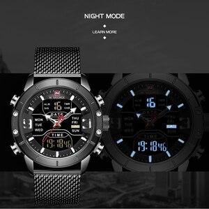 Image 2 - 新しい NAVIFORCE 男性腕時計トップの高級ブランドメンズデュアルディスプレイ軍事スポーツ男性のファッション防水クォーツ腕時計