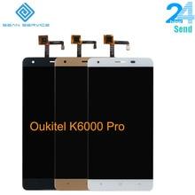 Для оригинальный Oukitel K6000 Pro ЖК-дисплей в мобильный телефон ЖК-дисплей Дисплей + Сенсорный экран планшета Ассамблеи ЖК-дисплей s + Инструменты 5.5 «1920×1080 P наличии