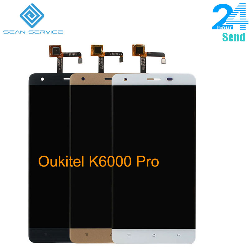 Para o Original Oukitel K6000 Pro LCD em lcds do telefone Móvel LCD Display + Touch Screen Digitador Assembléia + Ferramentas 5.5