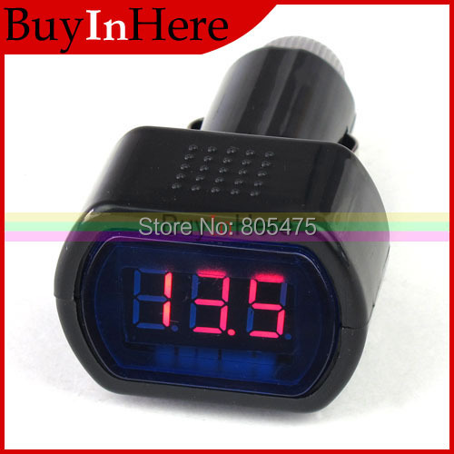 DC 12V / 24V Digital Red LED Auto Car Battery Voltage Voltmeter GAUGE Indicator monitor Meter Tester 2619