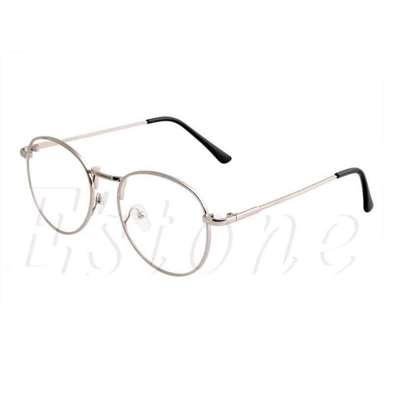 Retro Rodada Óculos de Lente Clara Nerd Óculos Mulheres Homens Óculos De  Armação de Metal A46831 392b2cf666
