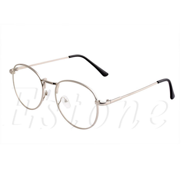 e3b178dd959 Retro Round Clear Lens Glasses Nerd Spectacles Women Men Eyeglass Metal  Frame A46831