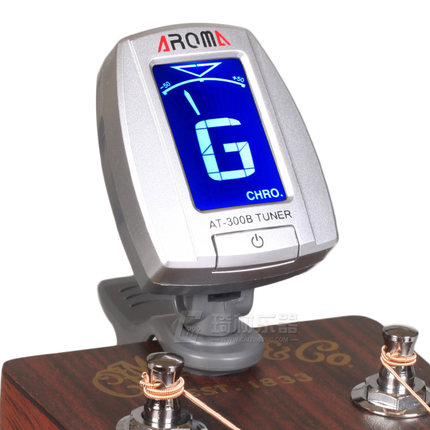Aroma AT-300B Chromatic Tuner for Acoustic Guitar, Bass, 6 & 12 string Guitars, Ukulele