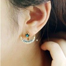 H02 Blue stars earrings Long Tassel Dangle Earrings For Women Leaf Feather Drop Brincos Bijoux boucle d'oreille Jewelry Earring