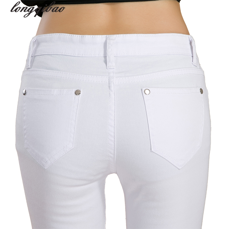 Summer And Autumn New Candy Color Jeans Ladies Korean Tight Body Pencil Pants Thin Section TB7530