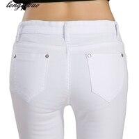 Yaz ve sonbahar yeni şeker renk kot bayanlar Kore sıkı vücut kalem pantolon ince kesit TB7530