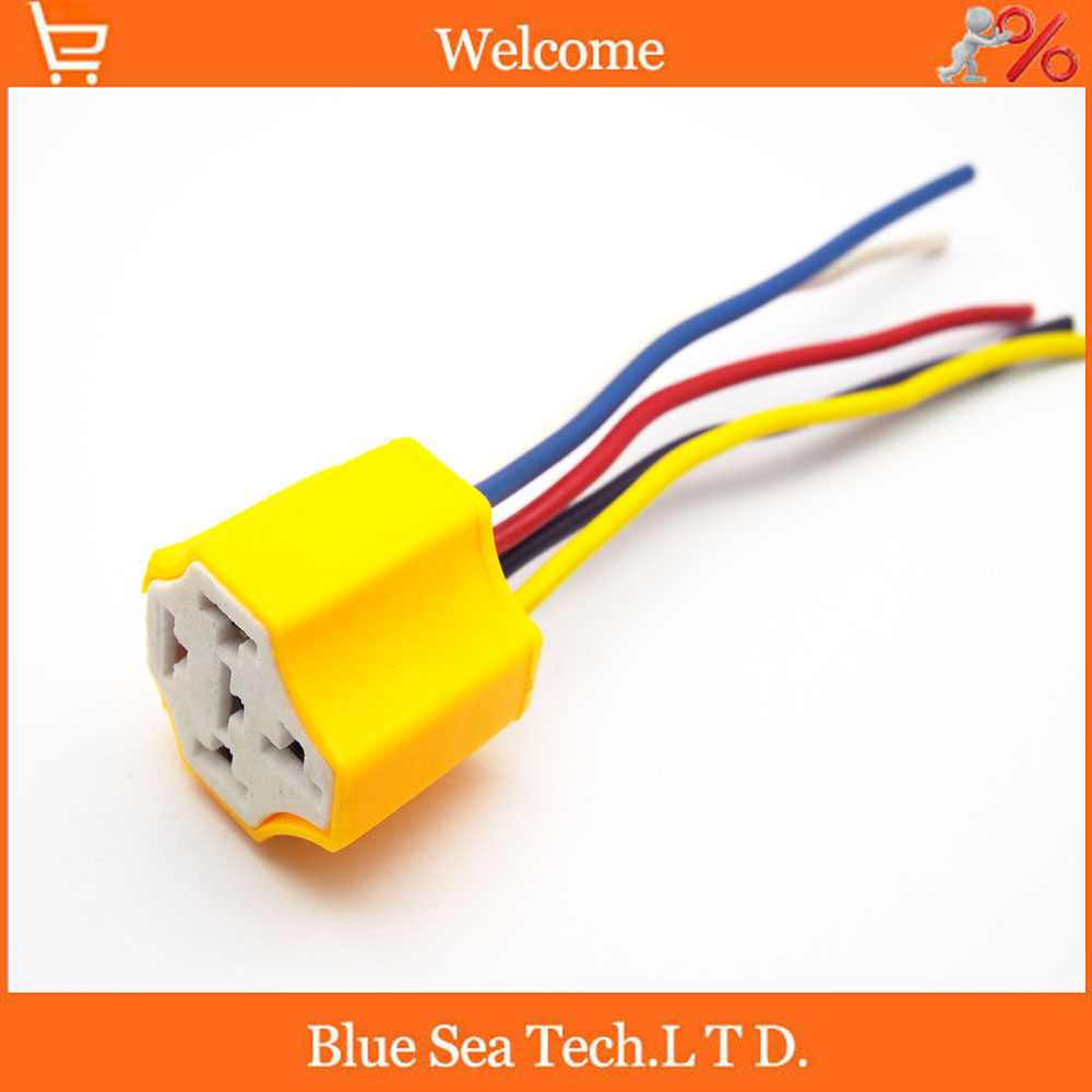 Probe, 5 stück 5 polig keramik auto relais stecker mit kabel, auto ...
