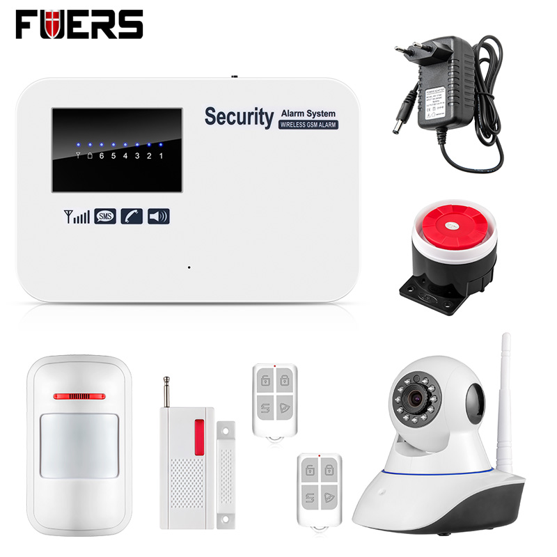 Android ios app remote control Intelligent smart Home Burglar Security GSM Alarm System with WIFI IP camera 433mhz wireless android ios app remote control home security wifi alarm system gsm sms with home automation smart socket