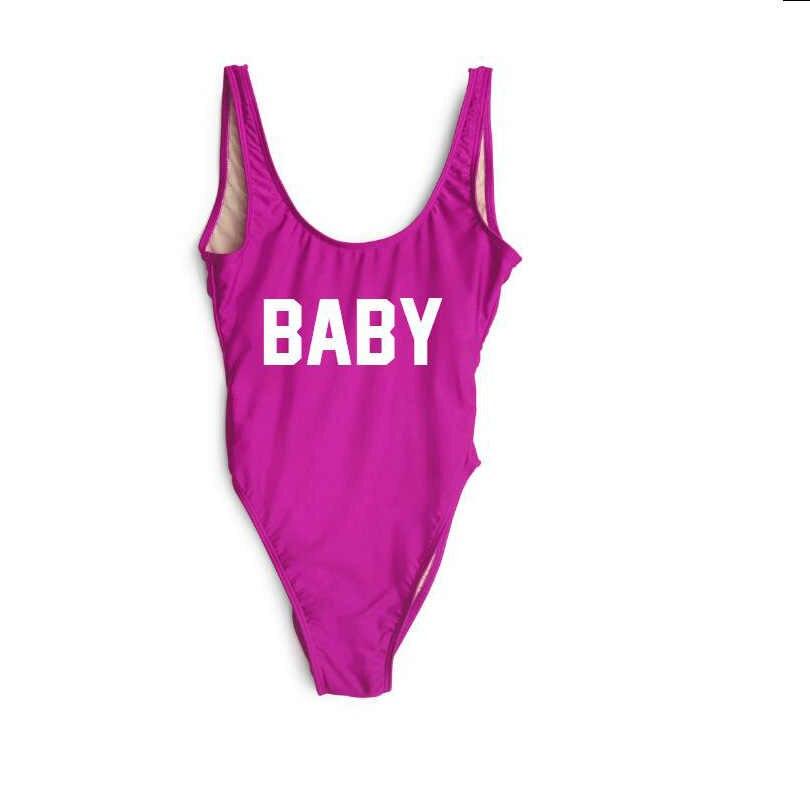 Купальник для малышей, боди с украшением в виде букв, Женская Экзотическая одежда, сексуальное черное Женское боди с круглым вырезом на спине и шипами