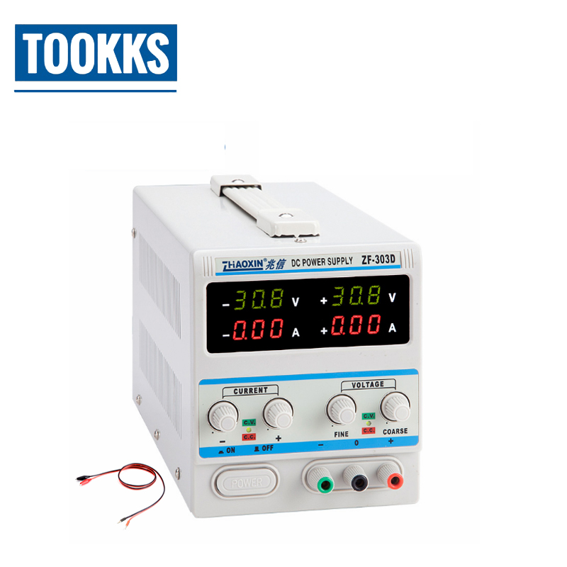 цена 30V 3A ZF-303D Positive-negative adjustable dc regulated power supply