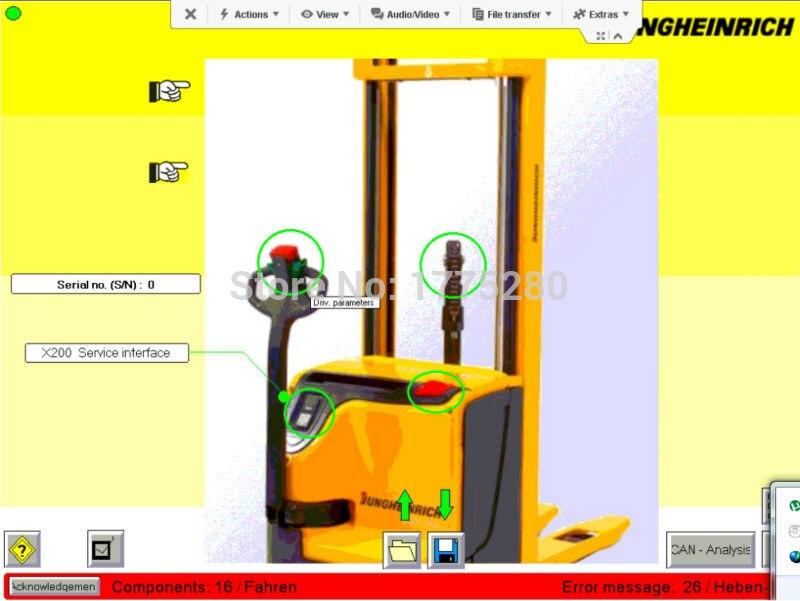 jungheinrich wiring diagram forklift etv spare parts manual