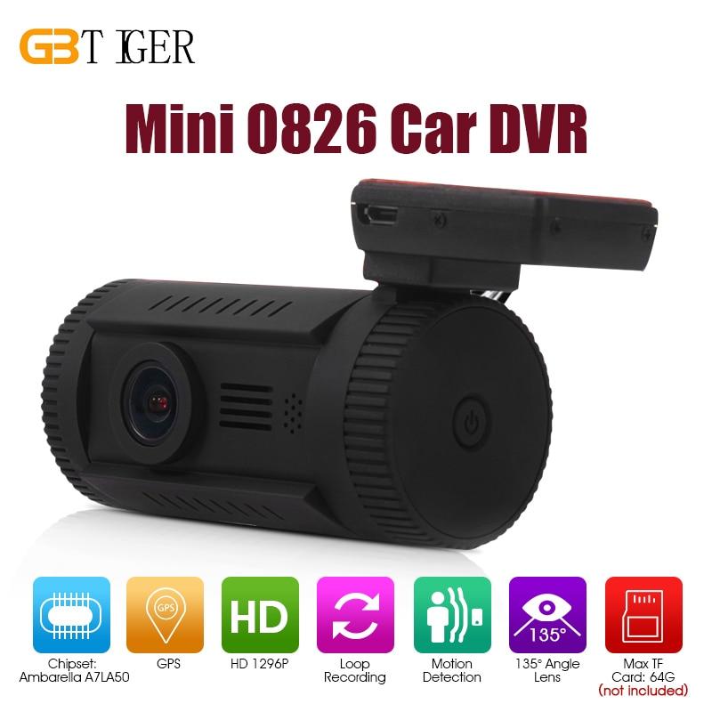 Mini 0826 1.5 inch 1296P GPS Ambarella A7LA50 OV4689 Car Dash DVR Camcorder HD Cam Recorder Support CPL Filter ADAS WDR HDR gps навигатор lexand sa5 hd