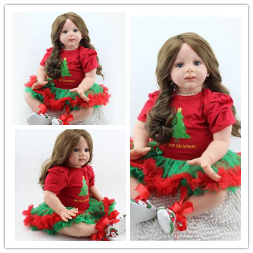 Genuine new baby doll reborn silicone soft skin care baby toys female tide прогулочные коляски baby care new york