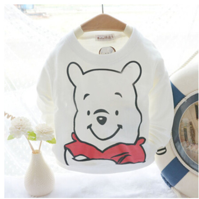 2016 Baby Clothing  Spring Autumn Baby T-Shirt Toddler Boy Long-Sleeve Cartoon T-Shirts Child 100% Cotton Basic Tee Shirt