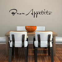 Bon Appetit Wall Decal For Kitchen Vinyl Wall Decal Quotes Art Dining Room Wall Sticker 25