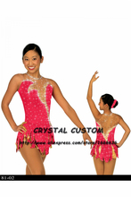 Hot Selling Ice Skating Dress For Girls Spandex Graceful New Brand Figure Skating Competition Dress Customized DR2641