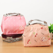 Korean Style Snack Portable Fresh Thermal Insulated Lunch Bag Lunchbox Storage Bag Lady Carry Picnic Multifunction Food Tote(China)