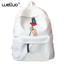 Забавная Вышивка печати рюкзак младших школьников школьный ноутбук сумка рюкзак школьный для девочек подарок XA505B