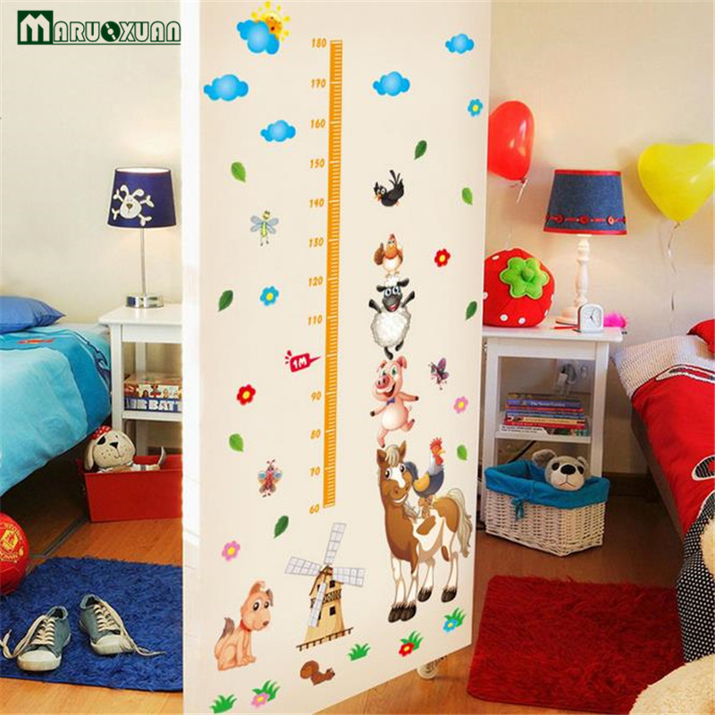 cartoon weiland dier combinatie sticker body hoogte plakken kamer slaapkamer sticker tv achtergrond wanddecoratie stickers in cartoon weiland dier