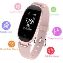 TWK 2019 Luxury Pink Smart Watch Women Men Heart Rate Fitness Bracelet Music for apple Android Wear Waterproof Smartwatch Ladies