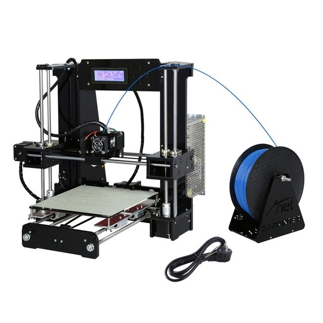 High Precision Automatic Leveling DIY 3D Printer Acrylic Lead Screw Frame Large Print Size 220*220*250mm EU Plug 1