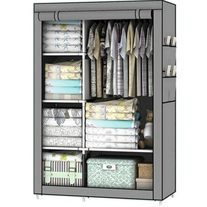 Image 4 - Bedroom Furniture For Home Storage Cabinet Door Wardrobe For Clothing Nonwoven Fabric Storage Clothes In The Closet In Moscow