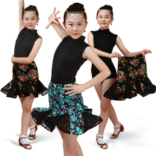 2017 children Latin dance clothing girl fringe  Dance Costume Contest Latin split clothes 3 style for selection мокасины costume selection