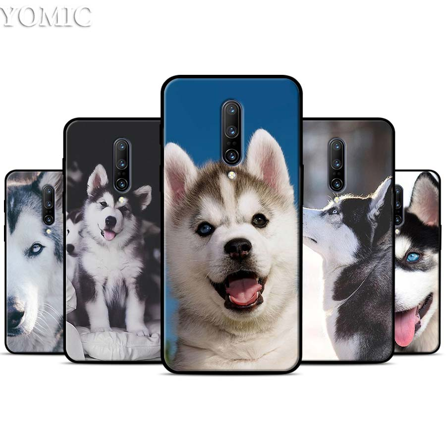 Animal Husky puppy Silicone Case for font b Oneplus b font font b 7 b font