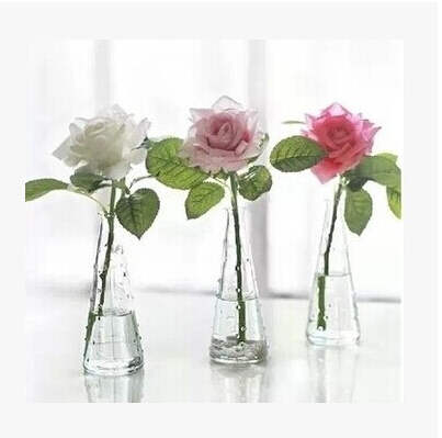 free shipping high quality clear glass vase for single flower the table vase of home decor free. Black Bedroom Furniture Sets. Home Design Ideas