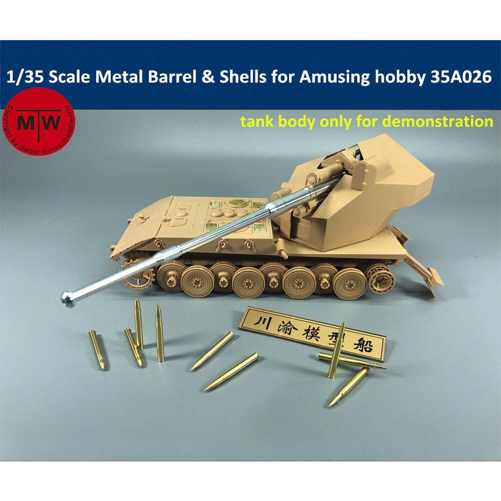 1/35 échelle 96/128mm métal baril et modèle de balle pour l'amusant passe-temps 35A026 Kit de E-100