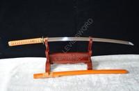 1060 High Carbon Steel FullTang Blade top quality Tsuba Japanese Samurai Sword Katana+a free stand