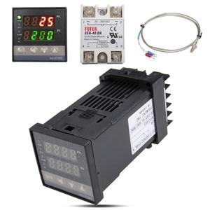 Image 4 - Neue Alarm REX C100 110V zu 240V 0 zu 1300 Grad Digital PID Temperatur Controller Kits mit K Typ sonde Sensor