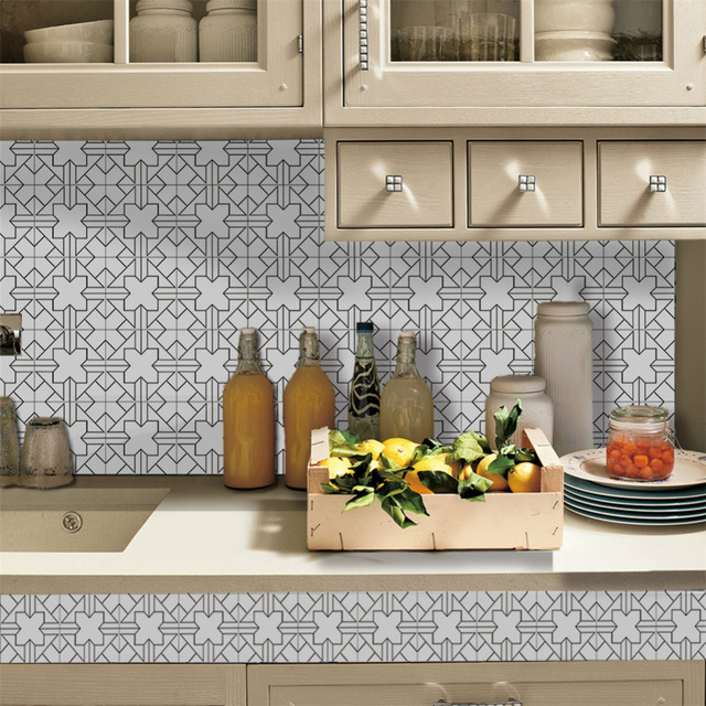 M geometrica mobili adesivi per piastrelle pvc for Adesivi x cucina