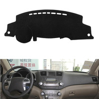 Fit For Toyota Highlander 2009 2014 Car Dashboard Cover Avoid Light Pad Instrument Platform Dash Board