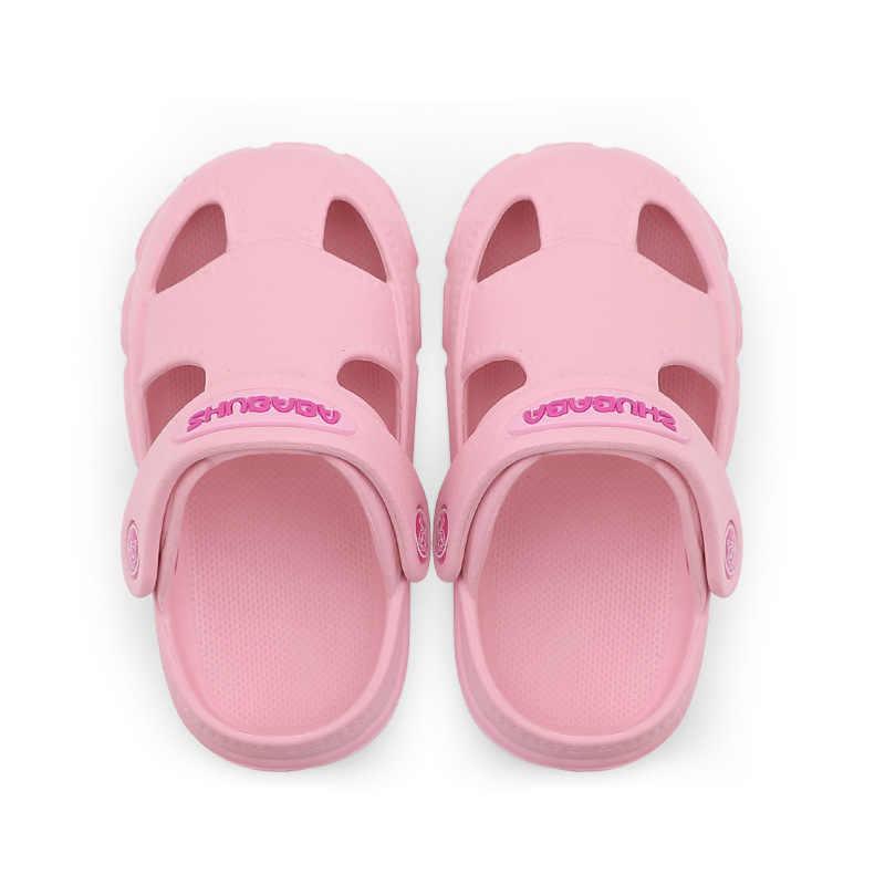 2019 летние для детей, eva пляжная обувь для маленьких мальчиков девочек домашняя Уличная обувь голова непромокаемая обувь для девочек с отверстиями обувь для дождя