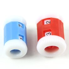 2 Large Red Plastic Knit Knitting Needles Row Counter  +2 Small Blue Plastic Knit Knitting Needles Row Counter (Large 2.2