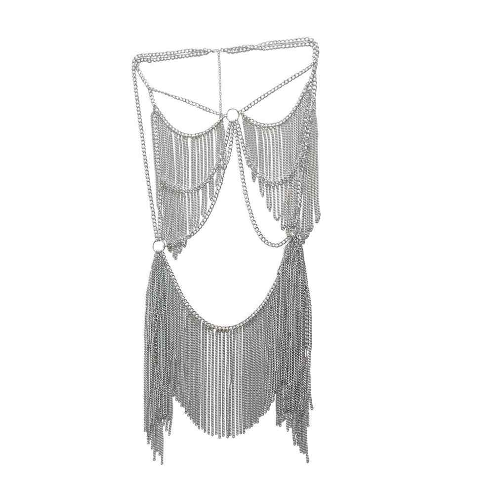 เครื่องประดับ Boho ผู้หญิงโลหะอัลลอยด์ชุดโซ่อินเดีย Belly Chain Bikini Beach ฮาโลวีนเครื่องแต่งกาย Party