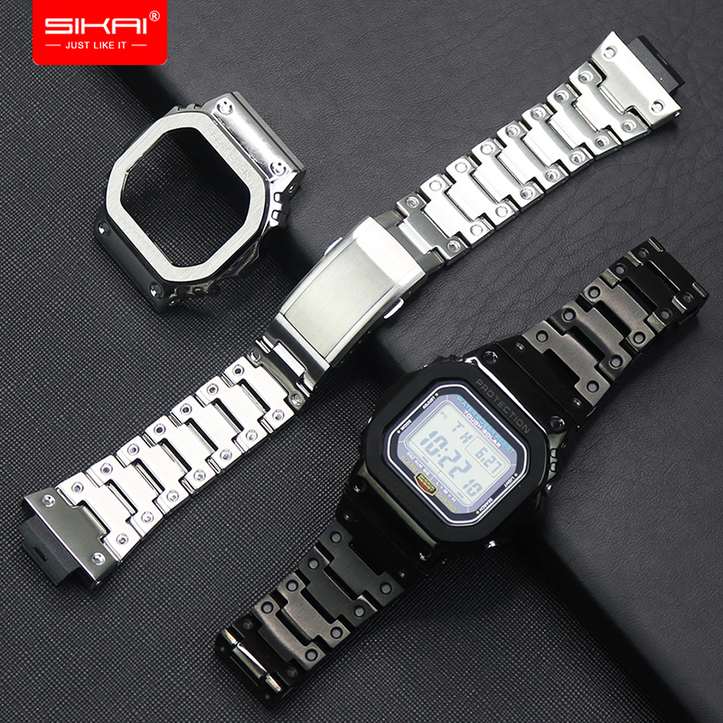For G shock 316L Stainless Steel Watch Case For DW5600 5000 5025 5035 GW 5000 5035