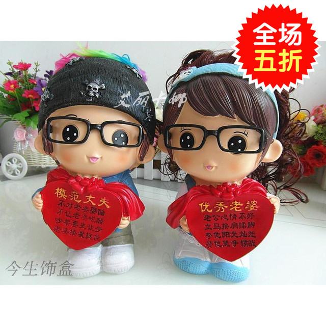 good wife gift model husband home furnishing doll ornaments save piggy marriage celebrate birthday gift