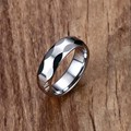 Mprainbow Mens Ring Silver Tungsten Carbide Multi-faceted Ring for Men Polished Wedding Engagement Band Geomertic Design Jewelry