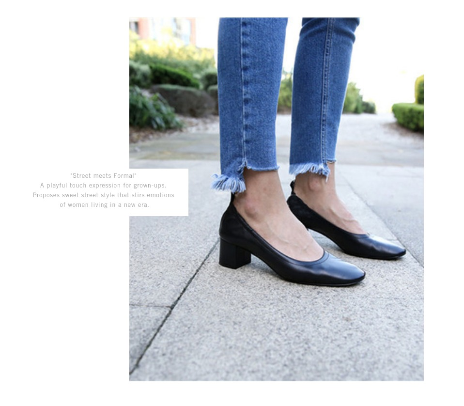 Shoes Women Genuine Leather Fashion Office and Career Rounded Toe 2-inch Block Heel Fashion Office Lady Pumps Size 34-41, K-307 19